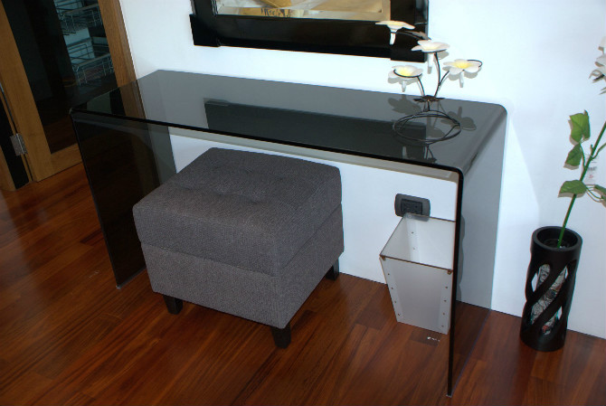 Tempered Glass Console Table